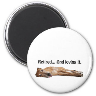 GVV Greyhound Retired and Loving It 6 Cm Round Magnet