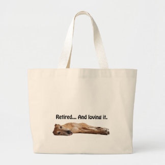 GVV Greyhound Retired and Loving It Large Tote Bag