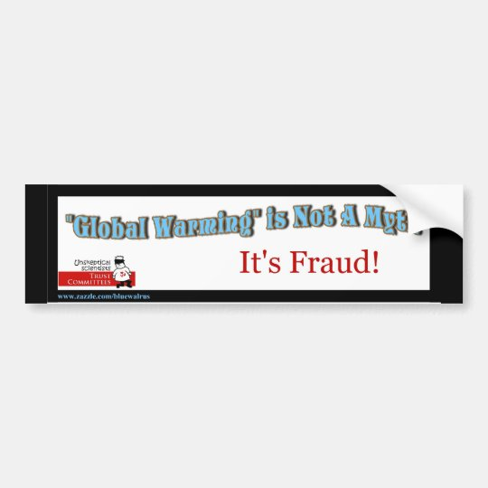 *GW is Fraud_Bumpersticker Bumper Sticker