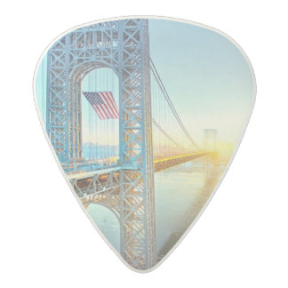 GWB connecting Fort Lee NJ and Manhattan NYPlus Acetal Guitar Pick