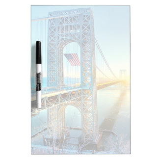 GWB connecting Fort Lee NJ and Manhattan NYPlus Dry Erase White Board