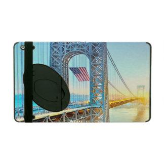 GWB connecting Fort Lee NJ and Manhattan NYPlus iPad Case