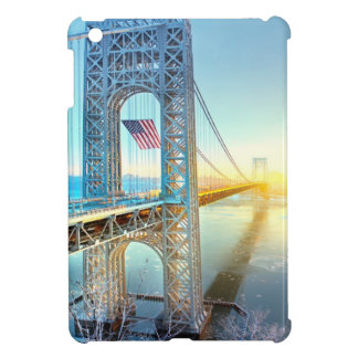 GWB connecting Fort Lee NJ and Manhattan NYPlus iPad Mini Cases