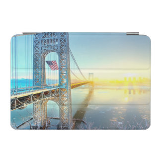 GWB connecting Fort Lee NJ and Manhattan NYPlus iPad Mini Cover