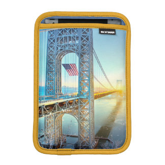 GWB connecting Fort Lee NJ and Manhattan NYPlus iPad Mini Sleeve