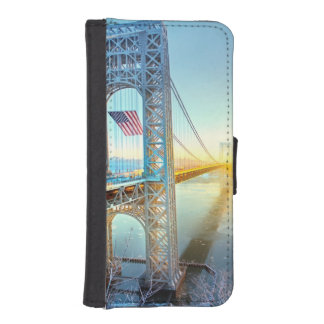 GWB connecting Fort Lee NJ and Manhattan NYPlus iPhone SE/5/5s Wallet Case