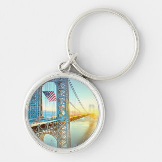 GWB connecting Fort Lee NJ and Manhattan NYPlus Key Ring