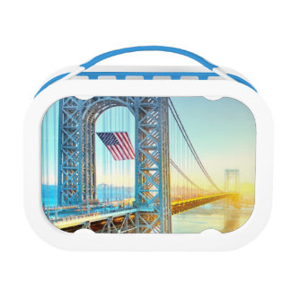 GWB connecting Fort Lee NJ and Manhattan NYPlus Lunch Box