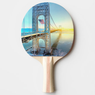 GWB connecting Fort Lee NJ and Manhattan NYPlus Ping Pong Paddle