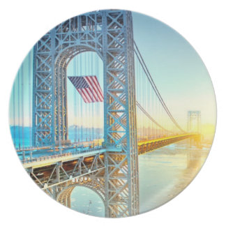 GWB connecting Fort Lee NJ and Manhattan NYPlus Plate