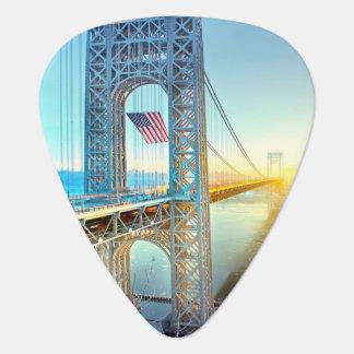 GWB connecting Fort Lee NJ and Manhattan NYPlus Plectrum