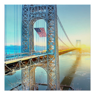 GWB connecting Fort Lee NJ and Manhattan NYPlus Poster
