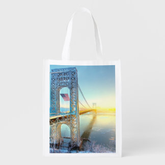 GWB connecting Fort Lee NJ and Manhattan NYPlus Reusable Grocery Bag
