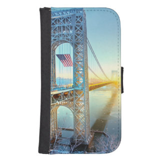 GWB connecting Fort Lee NJ and Manhattan NYPlus Samsung S4 Wallet Case