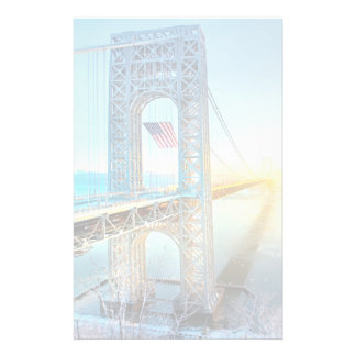 GWB connecting Fort Lee NJ and Manhattan NYPlus Stationery