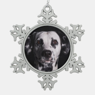GWDC Dalmatian Photo Contest Snowflake Pewter Christmas Ornament