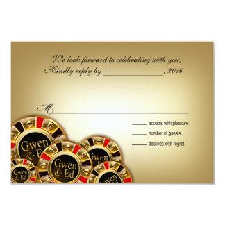 Gwen Las Vegas Casino Party RSVP 9 Cm X 13 Cm Invitation Card