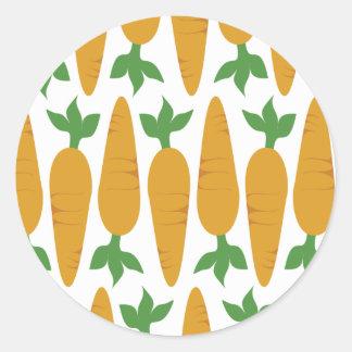 Gwennie The Bun: Field Of Carrots Classic Round Sticker