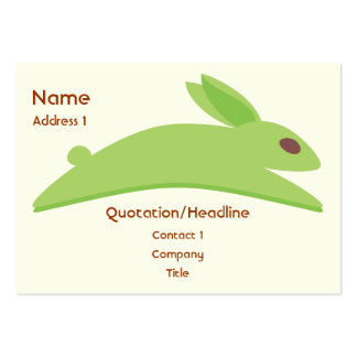 Gwennie The Bun: Gwen With Carrots Pack Of Chubby Business Cards