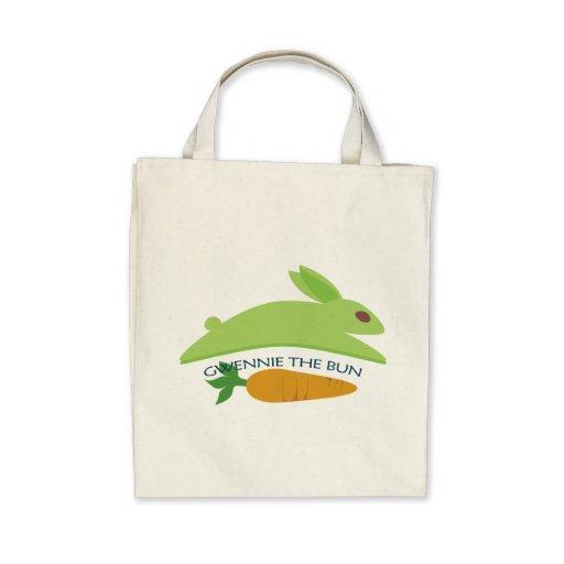 Gwennie The Bun With Carrot Canvas Bag