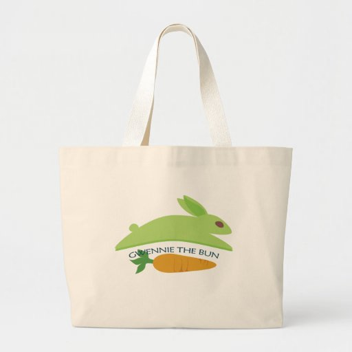 Gwennie The Bun With Carrot Tote Bags
