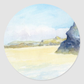 Gwithian beach - Cornwall Classic Round Sticker