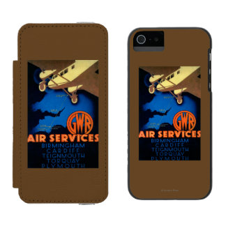 GWR Air Services Vintage PosterEurope Incipio Watson™ iPhone 5 Wallet Case
