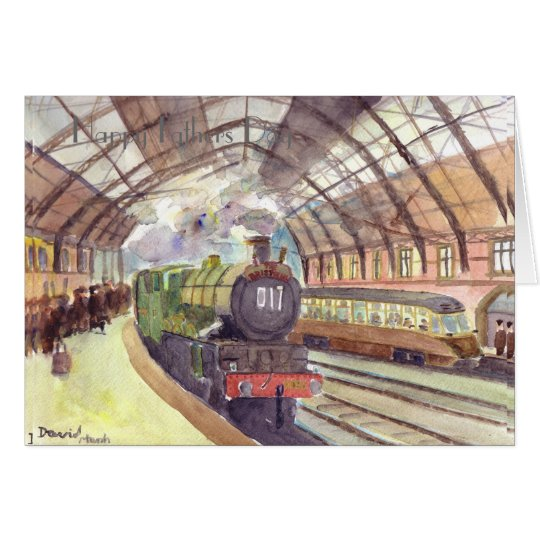 GWR Castle Class Fathers Day card