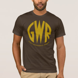 GWR Great Western Railways Gold Trains Hiking Duck T-Shirt