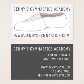Gym Acro Acrobatics Shoe Gymnastics Business Cards