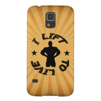 GYM AND BODYBUILDING I LIFT TO LIVE GALAXY S5 CASE
