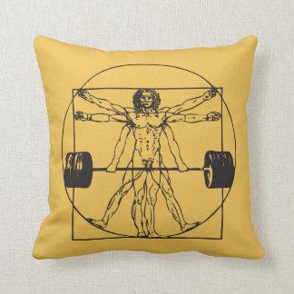 Gym Barbell Deadlift - Vitruvian Man Cushions