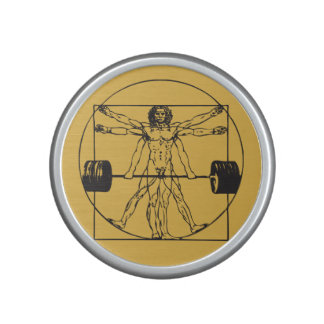 Gym Barbell Deadlift - Vitruvian Man Speaker
