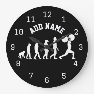Gym Bodybuilder ANY COLOR Personalized Large Clock