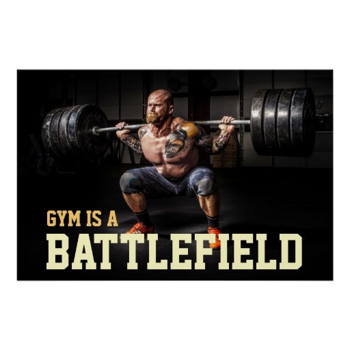 Gym Bodybuilder Workout Motivational Quote Poster