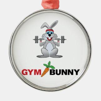 gym bunny 2 christmas ornament