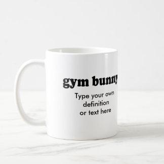 GYM BUNNY BASIC WHITE MUG