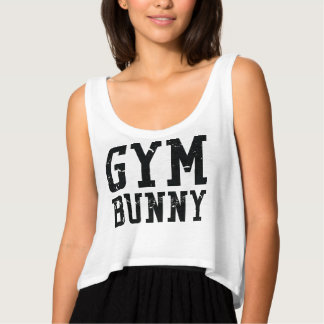 Gym Bunny Black Crop Top Flowy Crop Tank Top