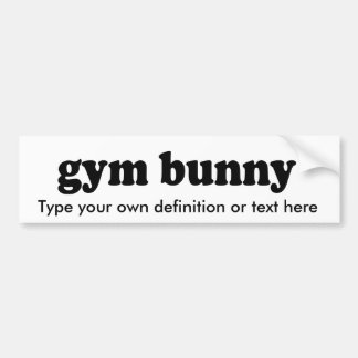 GYM BUNNY BUMPER STICKER