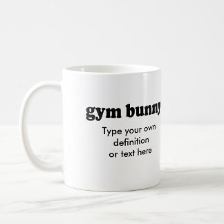 GYM BUNNY COFFEE MUG