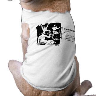 GYM BUNNY SLEEVELESS DOG SHIRT