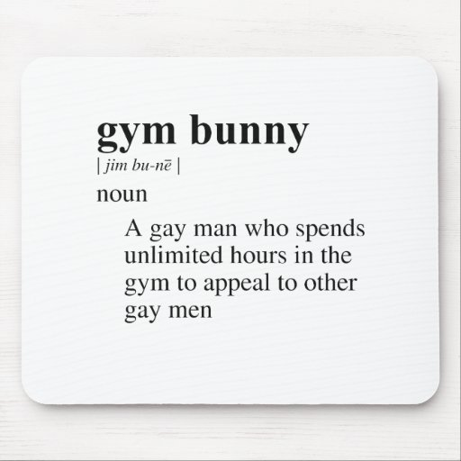 GYM BUNNY MOUSE PADS