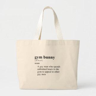 GYM BUNNY JUMBO TOTE BAG