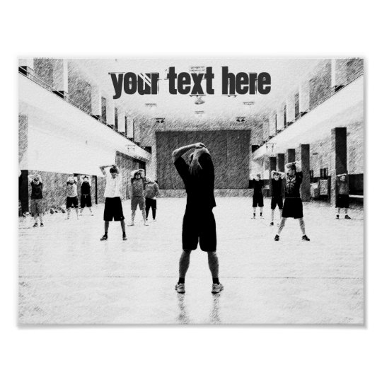 Gym customisable text motivational poster