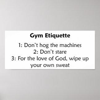 Gym Etiquette Print