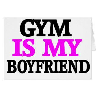 Gym is My BoyFriend Greeting Card