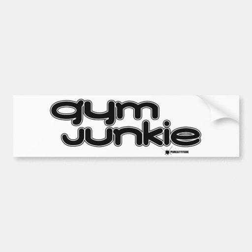 Gym Junkie Bumper Sticker