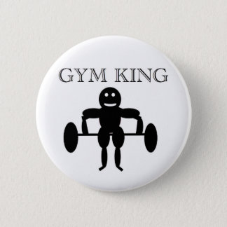 Gym King 6 Cm Round Badge