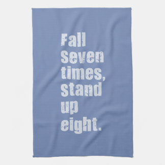 Gym Motivation - Fall Seven Times, Stand Up Eight Hand Towel