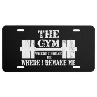 Gym Motivation License Plate